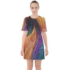 Graphics Imagination The Background Sixties Short Sleeve Mini Dress