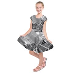 Architecture Skyscraper Kids  Short Sleeve Dress
