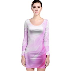 Material Ink Artistic Conception Long Sleeve Bodycon Dress