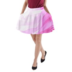 Material Ink Artistic Conception A Line Pocket Skirt