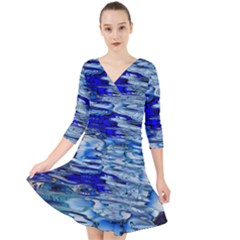 Graphics Wallpaper Desktop Assembly Quarter Sleeve Front Wrap Dress