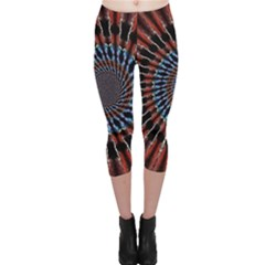 The Fourth Dimension Fractal Noise Capri Leggings
