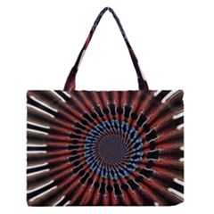 The Fourth Dimension Fractal Noise Zipper Medium Tote Bag