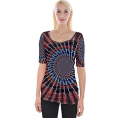 The Fourth Dimension Fractal Noise Wide Neckline Tee