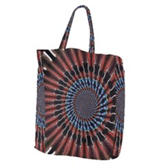 The Fourth Dimension Fractal Noise Giant Grocery Zipper Tote