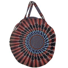 The Fourth Dimension Fractal Noise Giant Round Zipper Tote