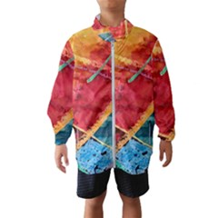 Painting Watercolor Wax Stains Red Wind Breaker (kids)