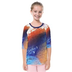 Colorful Pattern Color Course Kids  Quarter Sleeve Raglan Tee