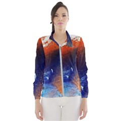 Colorful Pattern Color Course Wind Breaker (women)