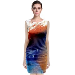 Colorful Pattern Color Course Classic Sleeveless Midi Dress
