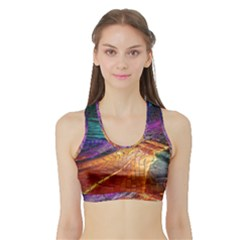 Graphics Imagination The Background Sports Bra With Border