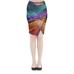 Graphics Imagination The Background Midi Wrap Pencil Skirt