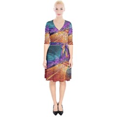 Graphics Imagination The Background Wrap Up Cocktail Dress