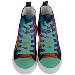 Graphics Imagination The Background Women s Mid Top Canvas Sneakers