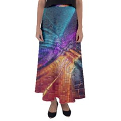 Graphics Imagination The Background Flared Maxi Skirt