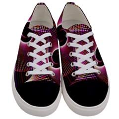 Grid Bent Vibration Ease Bend Women s Low Top Canvas Sneakers