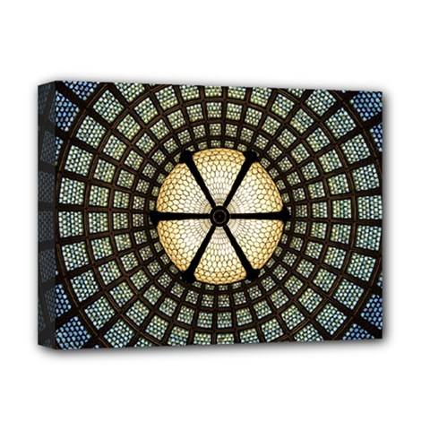 Stained Glass Colorful Glass Deluxe Canvas 16  X 12