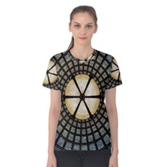 Stained Glass Colorful Glass Women s Cotton Tee