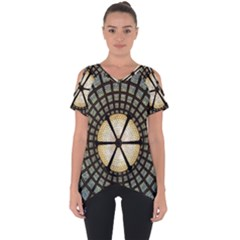 Stained Glass Colorful Glass Cut Out Side Drop Tee