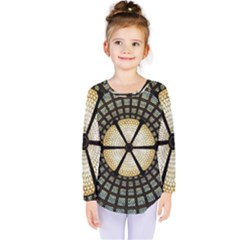 Stained Glass Colorful Glass Kids  Long Sleeve Tee