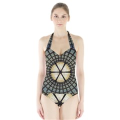 Stained Glass Colorful Glass Halter Swimsuit