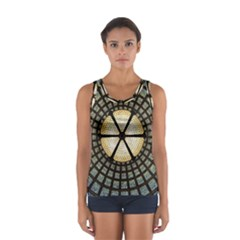 Stained Glass Colorful Glass Sport Tank Top