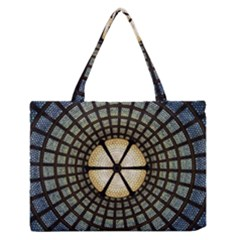 Stained Glass Colorful Glass Zipper Medium Tote Bag
