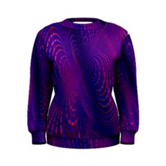 Abstract Fantastic Fractal Gradient Women s Sweatshirt