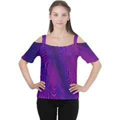 Abstract Fantastic Fractal Gradient Cutout Shoulder Tee