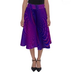 Abstract Fantastic Fractal Gradient Perfect Length Midi Skirt