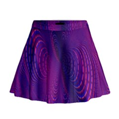 Abstract Fantastic Fractal Gradient Mini Flare Skirt