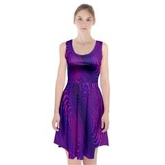 Abstract Fantastic Fractal Gradient Racerback Midi Dress