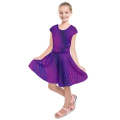 Abstract Fantastic Fractal Gradient Kids  Short Sleeve Dress