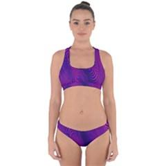 Abstract Fantastic Fractal Gradient Cross Back Hipster Bikini Set