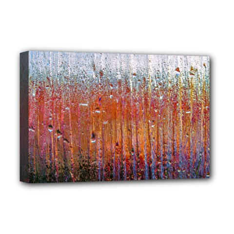 Glass Colorful Abstract Background Deluxe Canvas 18  X 12