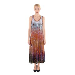 Glass Colorful Abstract Background Sleeveless Maxi Dress