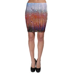 Glass Colorful Abstract Background Bodycon Skirt