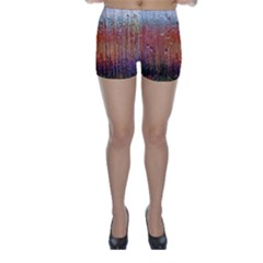 Glass Colorful Abstract Background Skinny Shorts