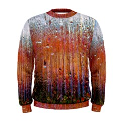 Glass Colorful Abstract Background Men s Sweatshirt