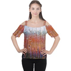 Glass Colorful Abstract Background Cutout Shoulder Tee