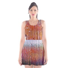 Glass Colorful Abstract Background Scoop Neck Skater Dress