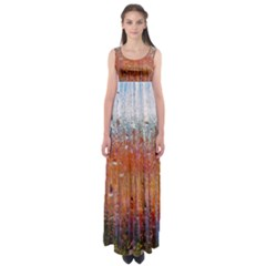 Glass Colorful Abstract Background Empire Waist Maxi Dress