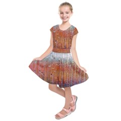 Glass Colorful Abstract Background Kids  Short Sleeve Dress