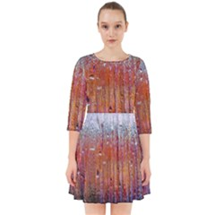 Glass Colorful Abstract Background Smock Dress