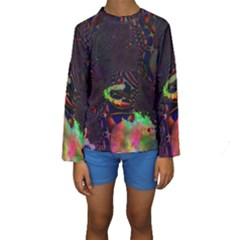 The Fourth Dimension Fractal Kids  Long Sleeve Swimwear