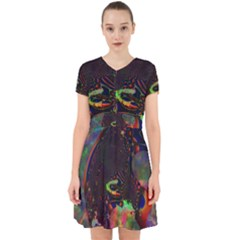 The Fourth Dimension Fractal Adorable In Chiffon Dress