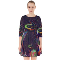 The Fourth Dimension Fractal Smock Dress
