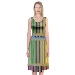 Pastels Cretaceous About Color Midi Sleeveless Dress