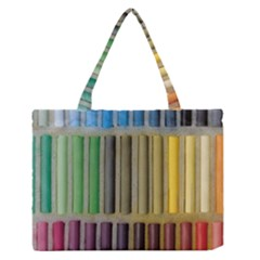Pastels Cretaceous About Color Zipper Medium Tote Bag