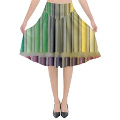 Pastels Cretaceous About Color Flared Midi Skirt